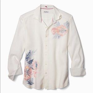 Tommy Bahama mens linen tropical shirt Large NWT